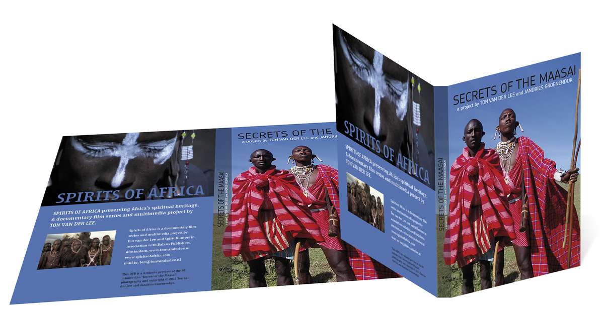 Omslag ontwerp dvd inlay Spirits of Africa