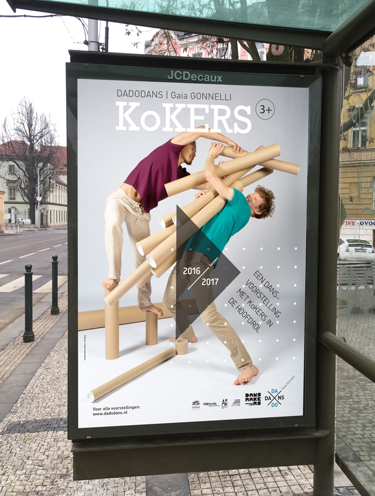 Affiche Dansvoorstelling Kokers in Abri